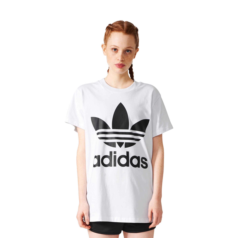 adidas Oversize Trefoil T Shirt Damen: : Sport