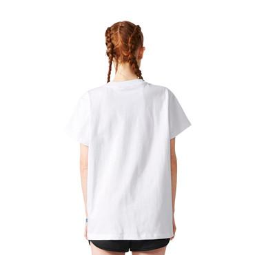 Adidas Big Trefoil-T-Shirt für Damen | weiss, zartrosa