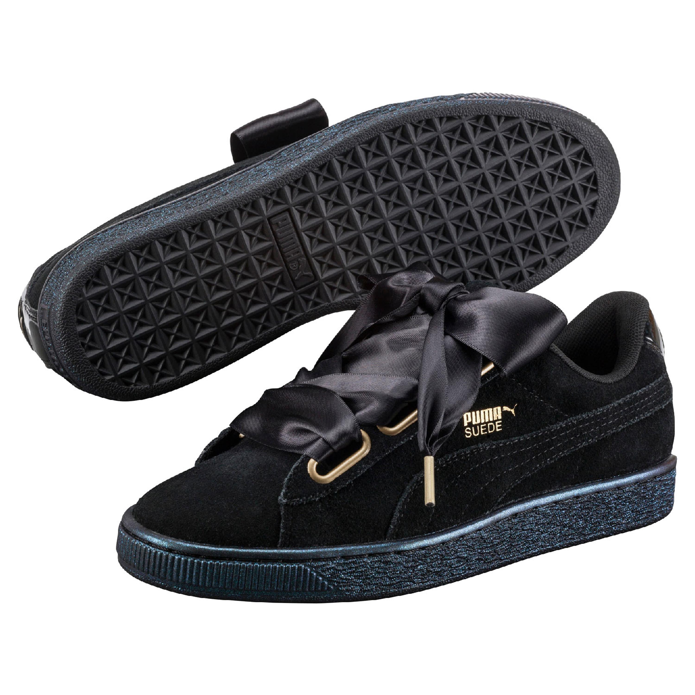 Suede Heart Satin Damen Sneaker | Sneakers | Zapatillas con