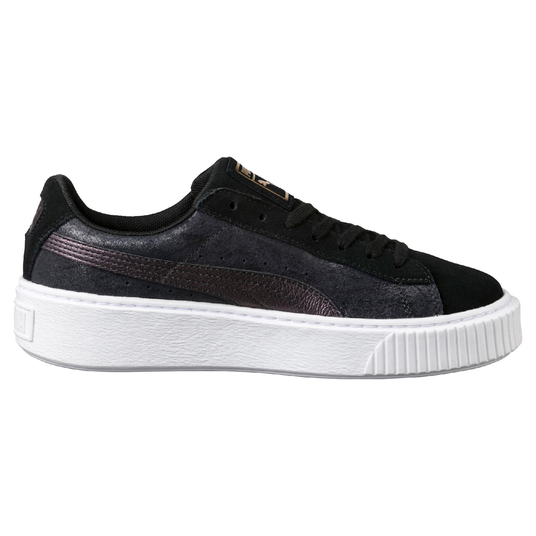 ac01e631aa7e93 Puma Suede Platorm Safari Sneakers für Damen in schwarz lila