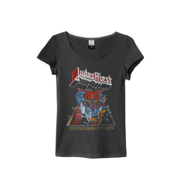 Ampliefied Mens Tee Judas Priest Bandshirt für Herren in schwarz