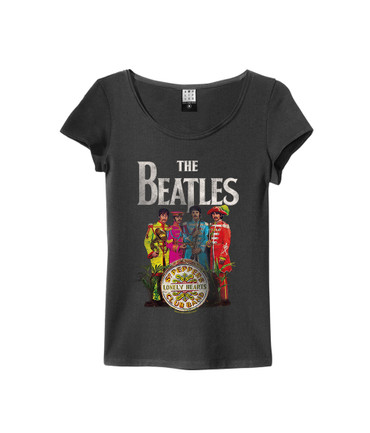 "Amplified Ladies tee The Beatles ""Lonely Hearts Woman"" für Damen dunkelgrau (charcoal)"