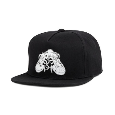 Adidas Originals Superstar Sneakers Snapback Cap in schwarz