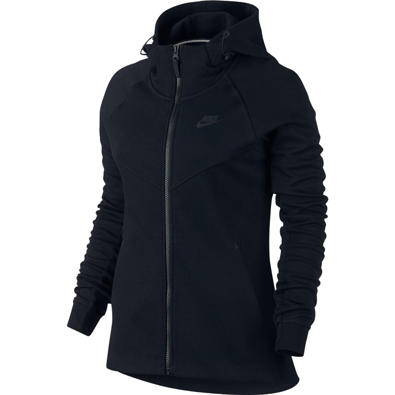 7e8d077db372 Nike Sportswear Tech Fleece Hoodie Jacke für Damen in schwarz ...