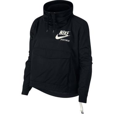 Damenjacke Nike Sportswear Archive in schwarz mit großem Backprint