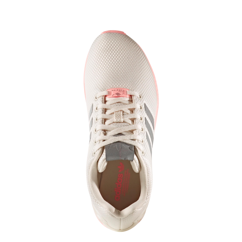 d6ca4ab71c6667 Adidas ZX Flux Schuh Retro   Vintage Damen Sneaker in weiss-pink  FTWWHT METSIL