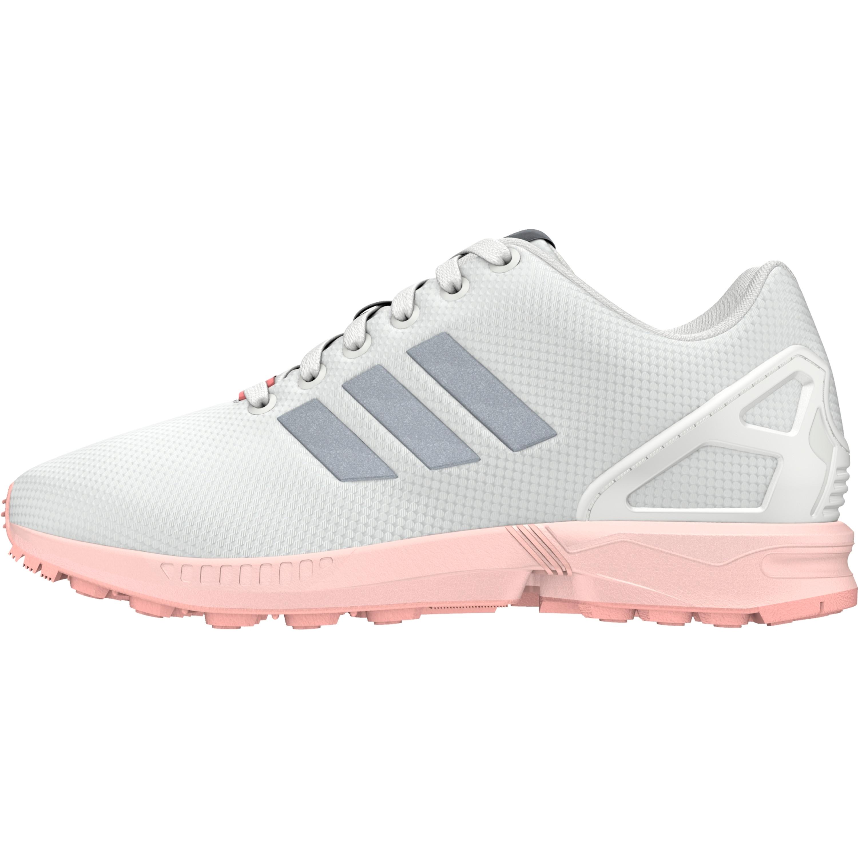 29ba01b1b4d0aa Adidas ZX Flux Schuh Retro   Vintage Damen Sneaker in weiss-pink  FTWWHT METSIL