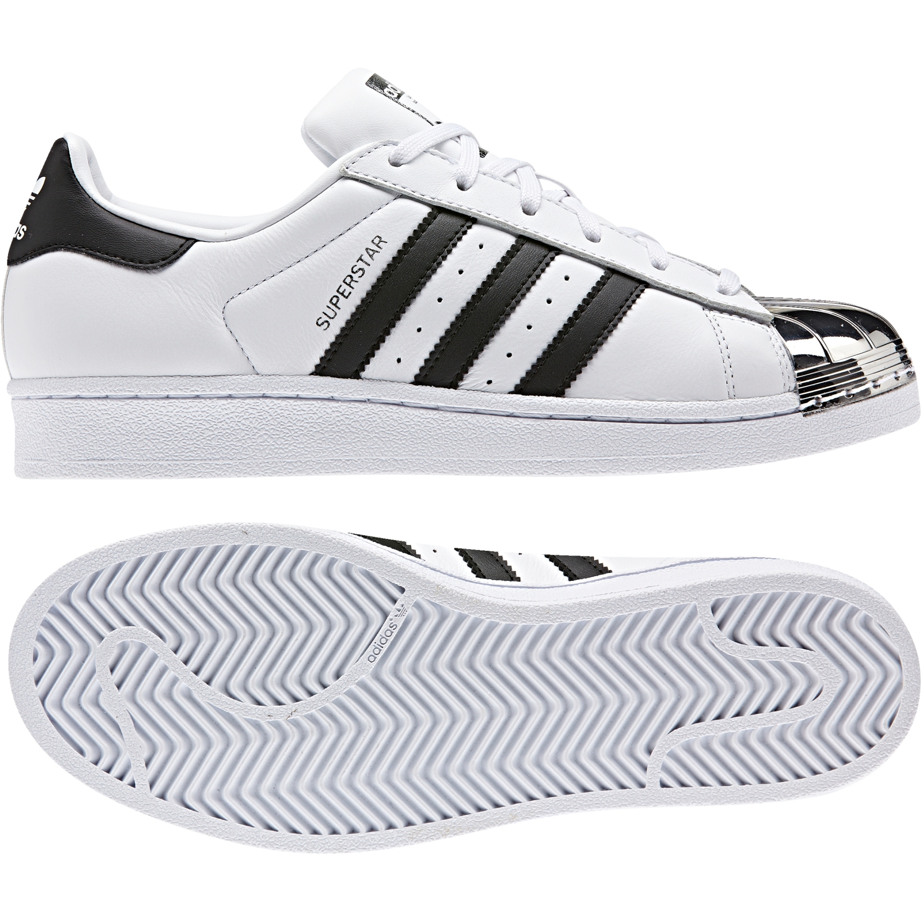 Adidas Superstar Metal Toe Retro & Vintage Sneakers für Damen in weiss metallic