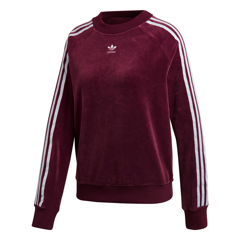 wholesale sales dirt cheap sells Adidas Trefoil Sweatshirt Crewneck Retro-Style für Damen in dunkelrot