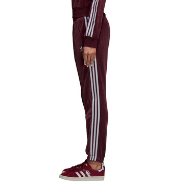 Adidas Track Pants Adicolor Retro-Style Trainingshose für Damen in dunkelrot