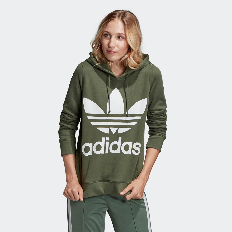 Großhandel Damen adidas Originals Trefoil Hoodie Grün