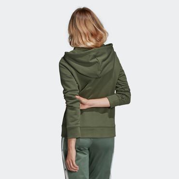 Adidas Adicolor Trefoil Hoodie Retro-Style für Damen in grün