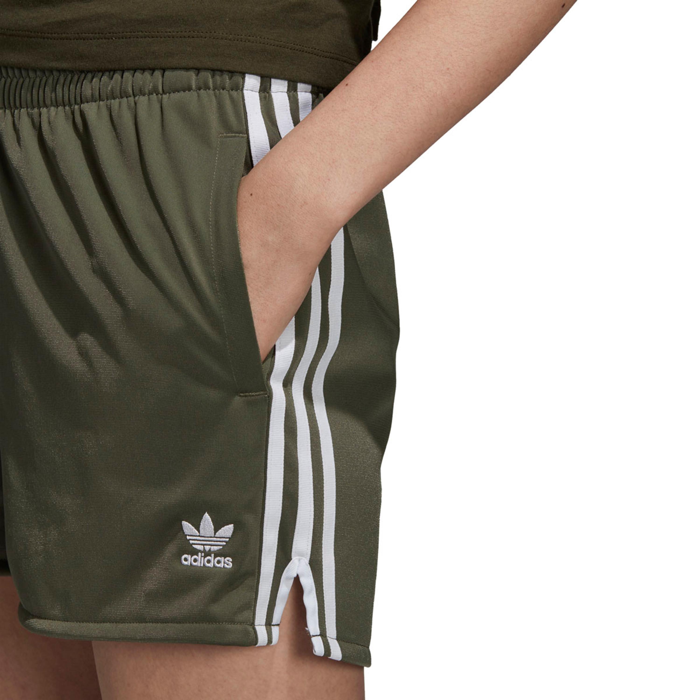 Adidas 3 Streifen Shorts Adicolor für Damen in grün