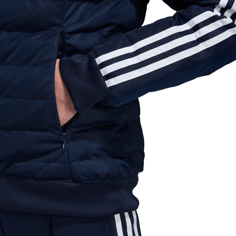 Für Winterjacke Mit Damen Jacke Kapuze Slim Blau In Adidas