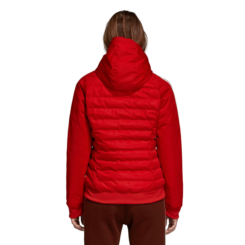 huge selection of 2d704 c23f8 Adidas Slim Jacke Winterjacke gesteppt mit Kapuze für Damen in rot