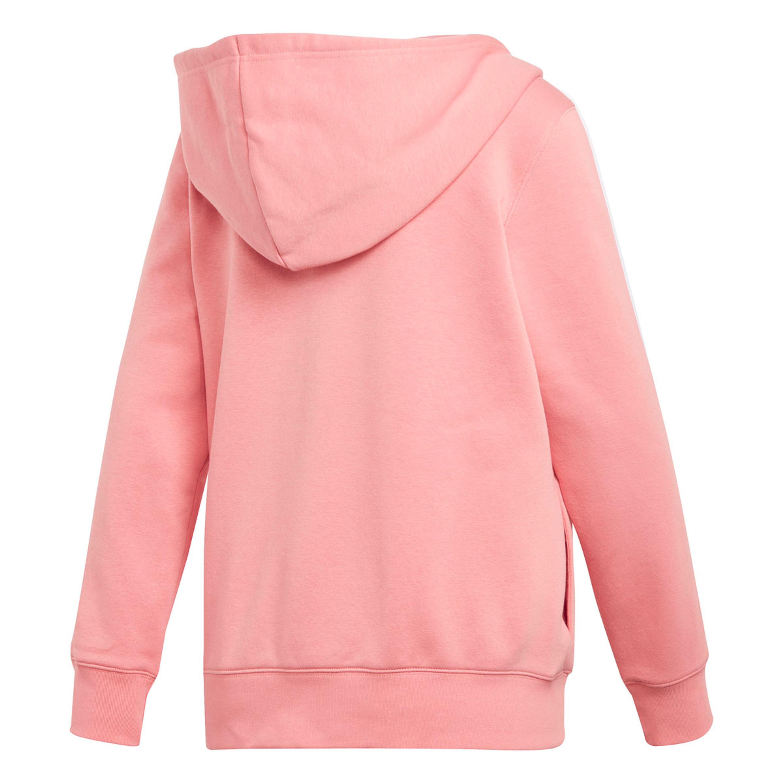 weltweit verkauft am besten bewertet neuesten neues Konzept Adidas 3-Streifen Kapuzenjacke Hoodie für Damen in rosa
