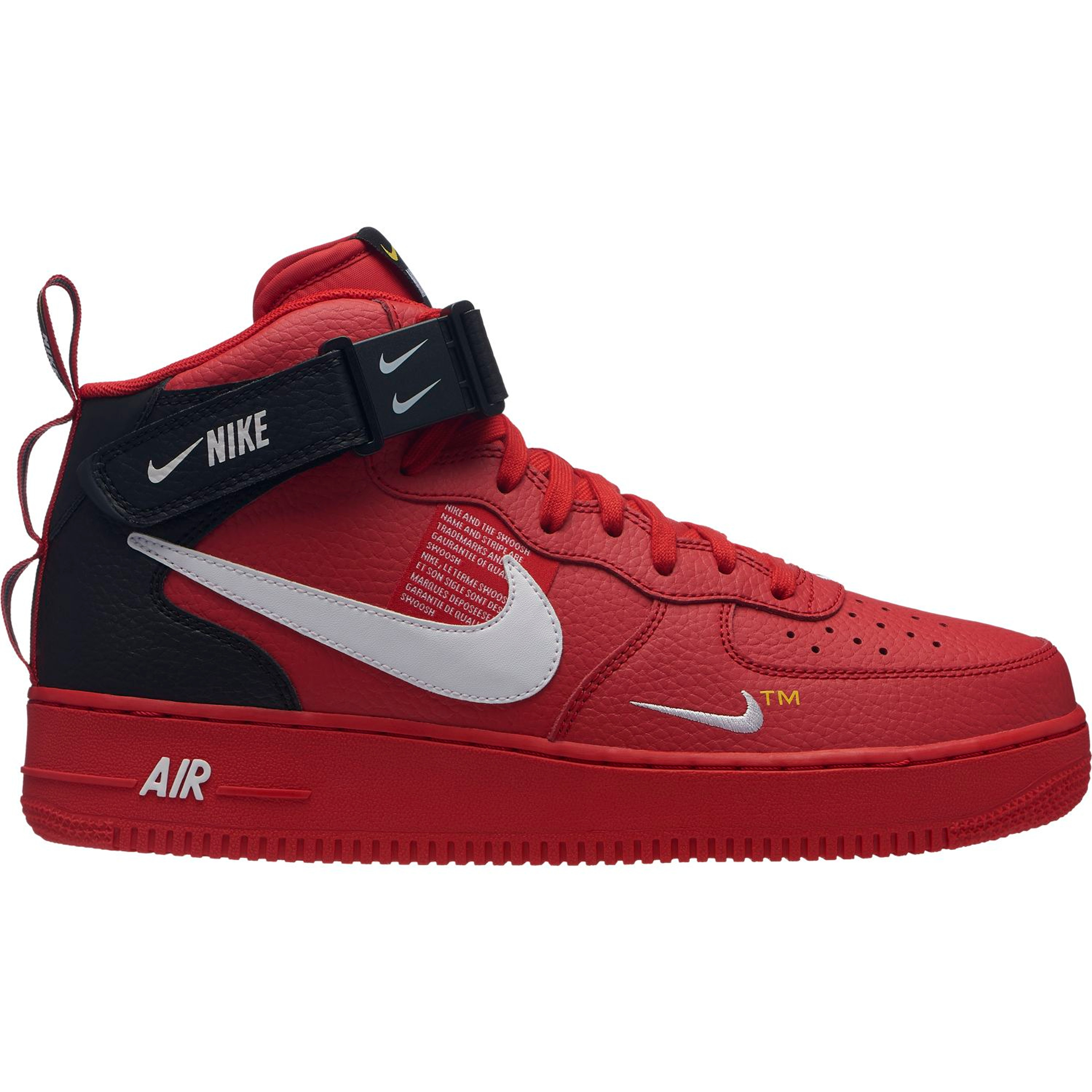 outlet store 0f69f a7e0c Nike Air Force 1 Mid  07 LV8 Hi-Top Basketball Retro-Style Sneakers für  Herren in rot