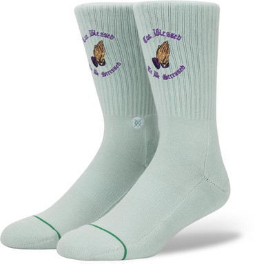 "Stance Anthem No Stress ""Too blessed to be stressed"" unisex Socken in weiß"