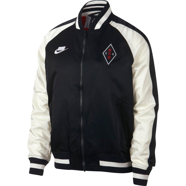 Nike Sportswear NSW Men's Woven Jacket für Herren in schwarz-weiss ...