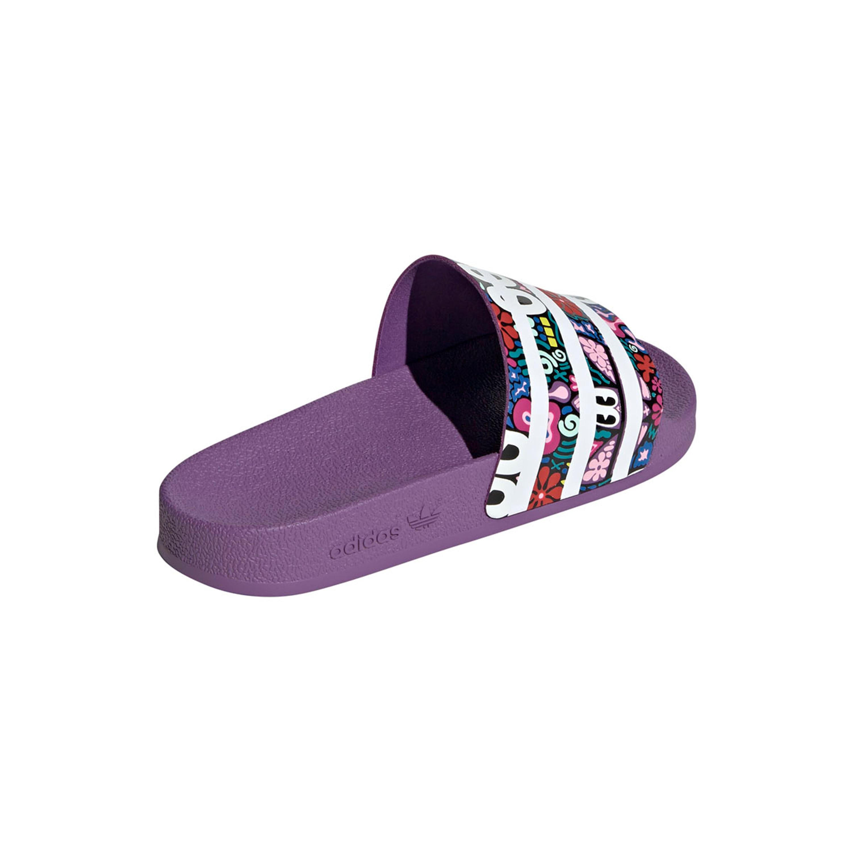 Online kaufen gute Qualität heiße neue Produkte Adidas Adilette Slipper für Damen lila-schwarz-mehrfarbig