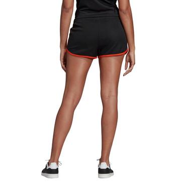 Adidas Shorts für Damen in schwarz-orange