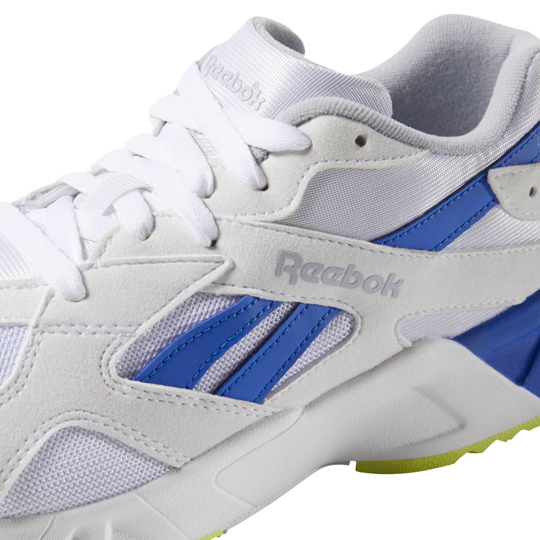 Reebok Aztrek Retro Freizeit Sneakers für Herren in weiß blau gelb