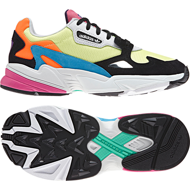 Adidas Falcon Freizeit Sneakers aus den 90ern für Damen mehrfarbig