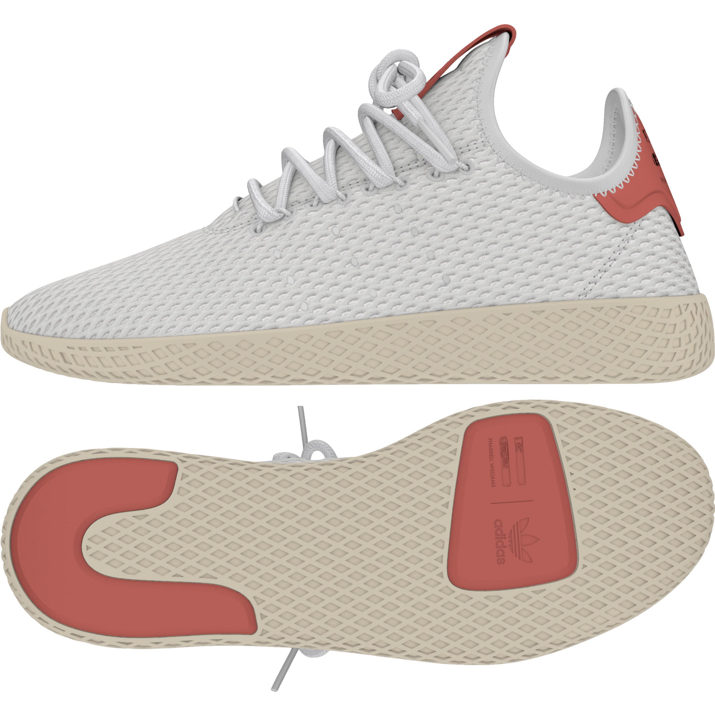 82394059218d Adidas Pharrell Williams Tennis HU Herren Freizeit Sneakers (weiss-rot)  FTWWHT FTWWHT
