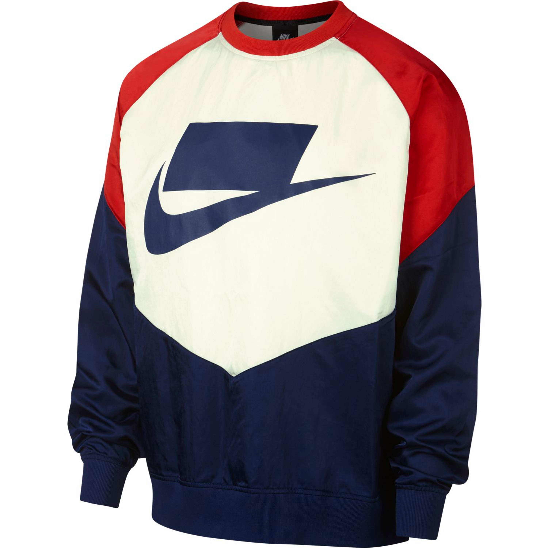 Nike Sportswear NSW Woven Crewneck Sweatshirt für Herren in blau rot