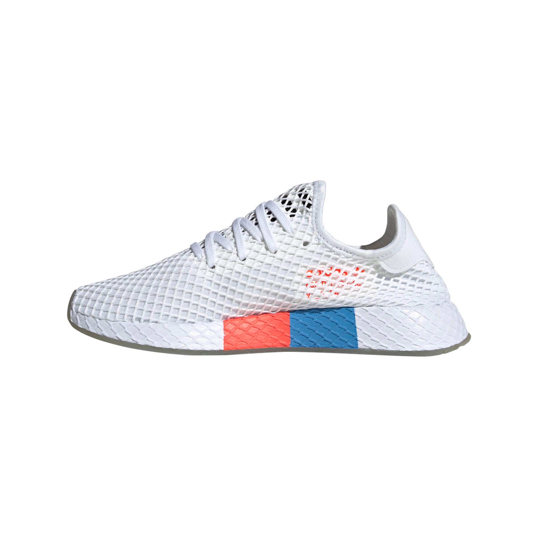 on feet images of huge inventory timeless design Adidas Deerupt Runner Freizeit Sneakers für Herren in weiß