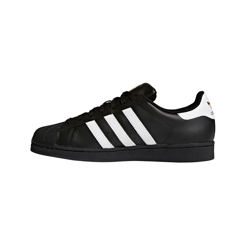 quality design 5a5a0 07fba Adidas Superstar Schuh Herren Retro & Vintage Sneaker in schwarz mit Shell  Toe aus Gummi