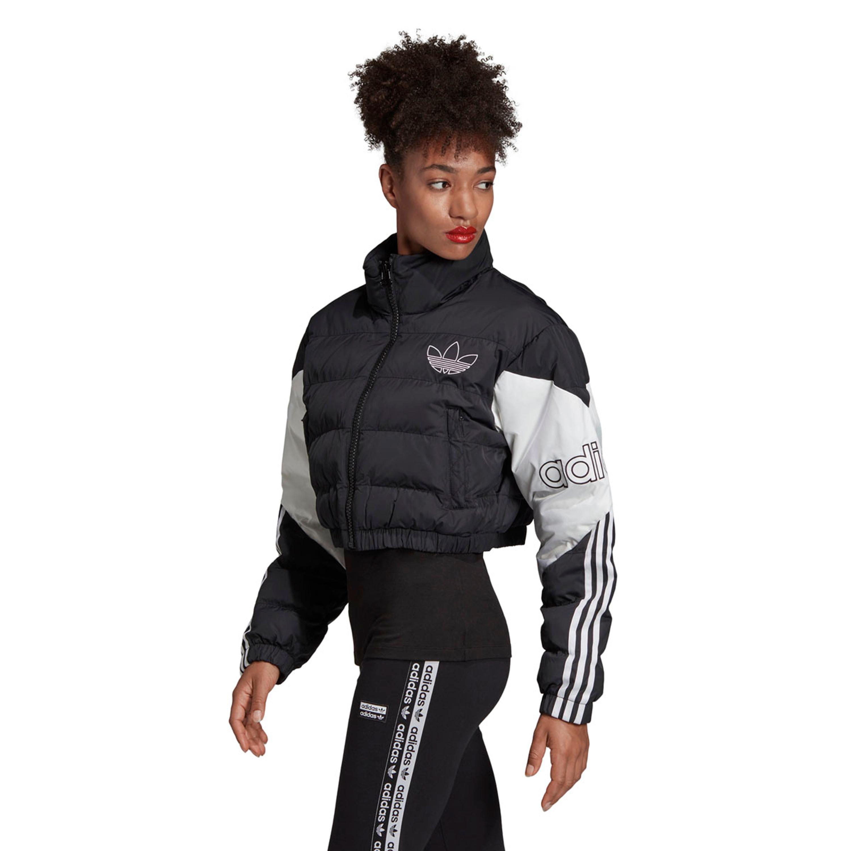 adidas puffer jacke schwarz