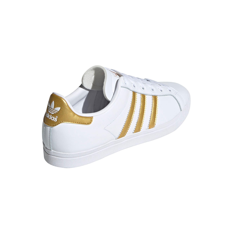 Adidas Coast Star Schuh Retro & Vintage Sneakers im Tennis Style für Damen in weiß gold