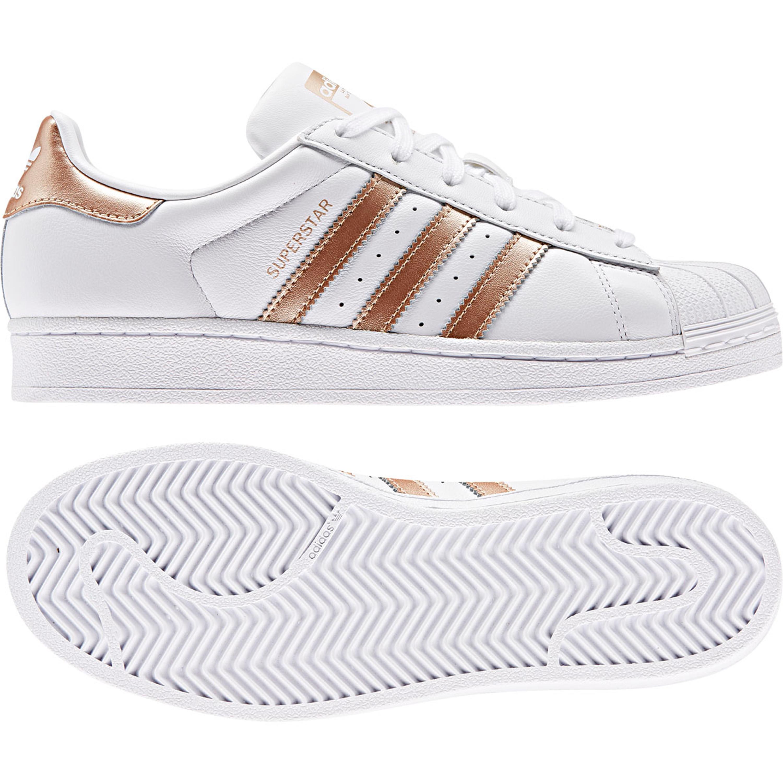 Adidas Superstar Retro & Vintae Sneakers für Damen in weiß kupfer metallic
