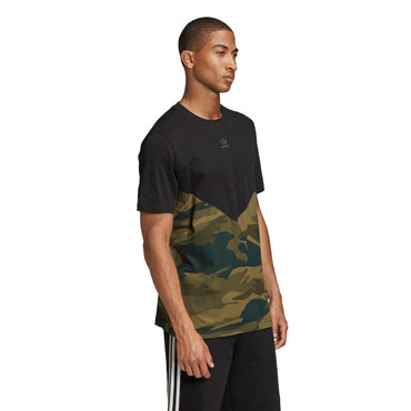 Adidas Originals Camouflage Block T-Shirt für Herren in schwarz-multicolor