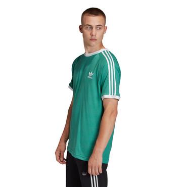 Adidas Originals 3-Streifen Retro T-Shirt für Herren in grün