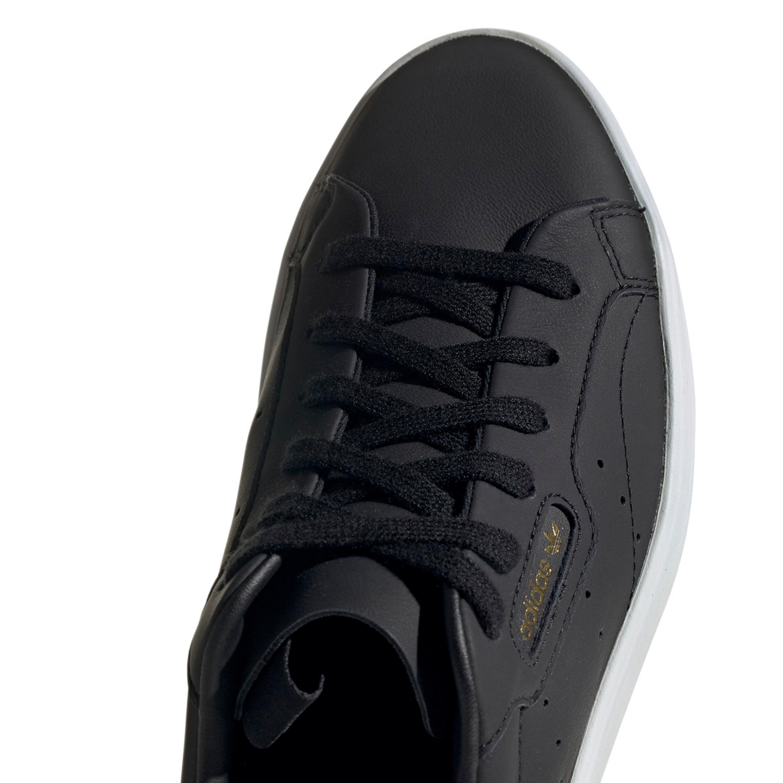 Adidas Sleak Freizeit-Sneakers im aus Leder für Damen in schwarz
