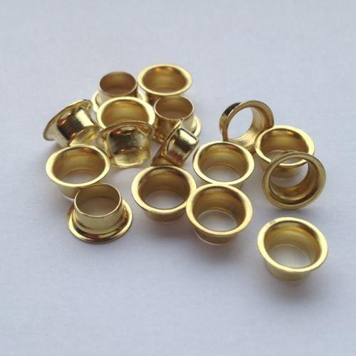 Ösen Nr. 8/E, 3,0 mm, Eisen vernickelt od. vermessingt, ring rollend – Bild 1
