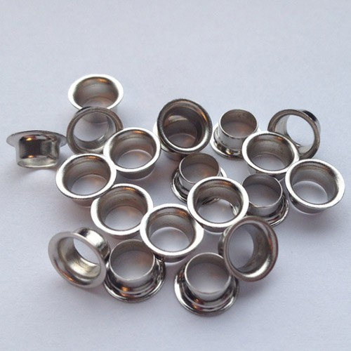 Ösen Nr. 8/E, 3,0 mm, Eisen vernickelt od. vermessingt, ring rollend – Bild 2