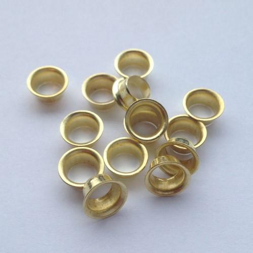 Ösen Nr. 8E-4, 4,0 mm, Eisen vernickelt od. vermessingt, ring rollend – Bild 2