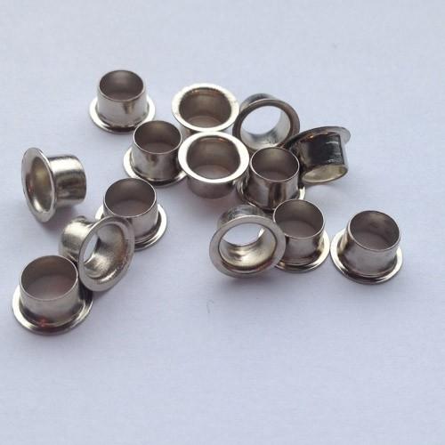 Ösen Nr. 8E-4, 4,0 mm, Eisen vernickelt od. vermessingt, ring rollend – Bild 1