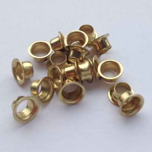Ösen Nr. 24, 2,9 mm, Eisen vernickelt od. vermessingt, ring rollend – Bild 2