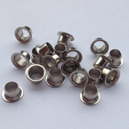 Ösen Nr. 25, 3,8 mm, Eisen vernickelt od. vermessingt, ring rollend – Bild 1