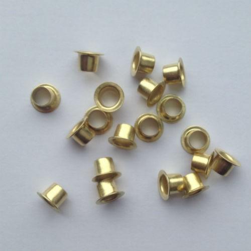 Ösen Nr. 26, 5,7 mm, Eisen vernickelt od. vermessingt, ring rollend – Bild 2