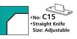 15,0 mm Messer für Geraden und 45° Schrägen für M70 Eckenrunder/Stanze – Bild 1