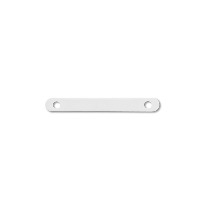 100 Stück Abdeckleiste weiß aus Kunststoff mit 80mm Lochabstand