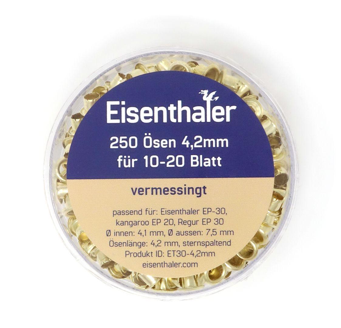 Eisenthaler 250 Ösen ET30-4,2mm, vermessingt, für 10-20 Blatt – Bild 3