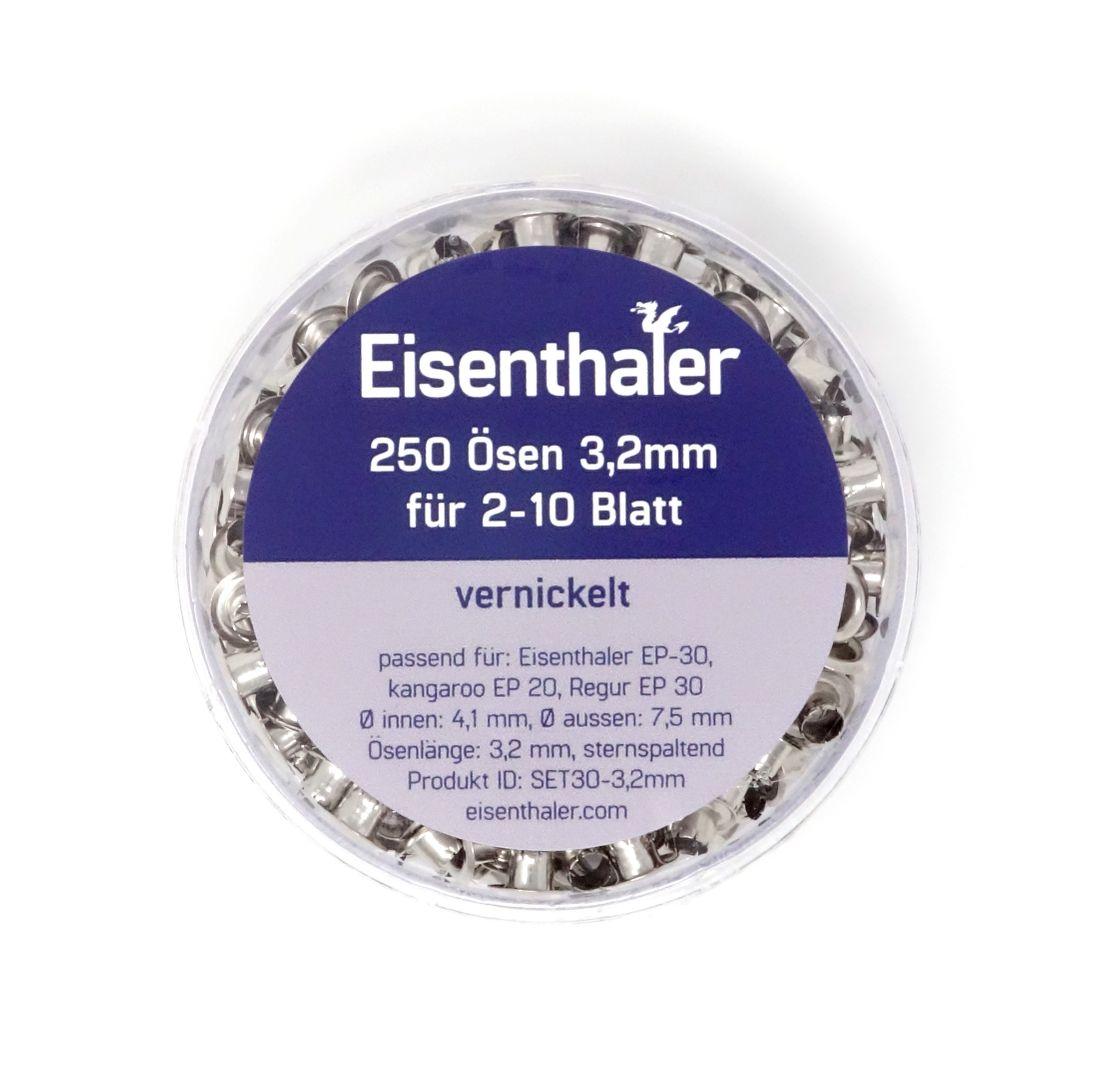Eisenthaler 250 Ösen SET30-3,2mm, vernickelt für 2-10 Blatt – Bild 3