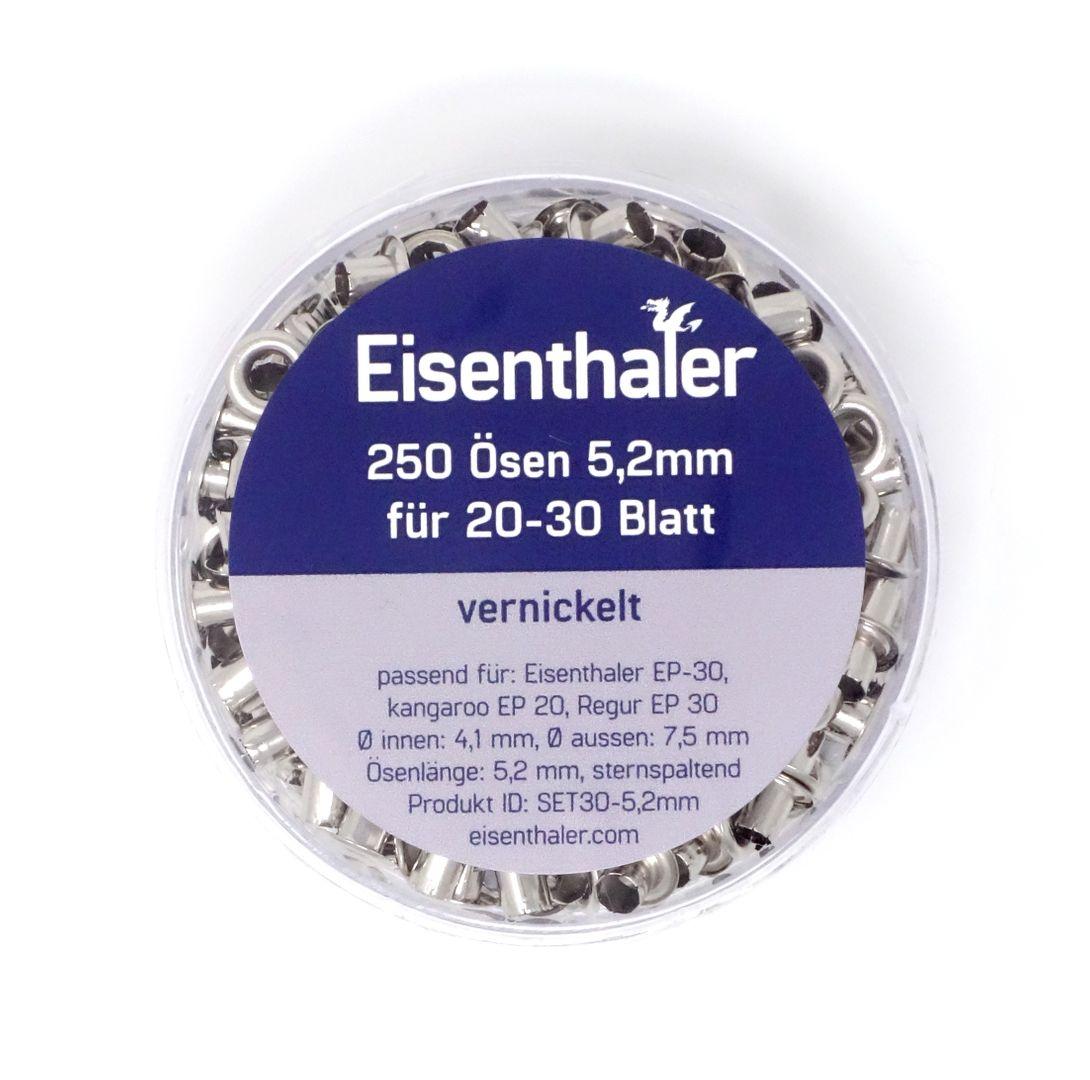 Eisenthaler 250 Ösen SET30-5,2 mm, vernickelt für 20-30 Blatt – Bild 3