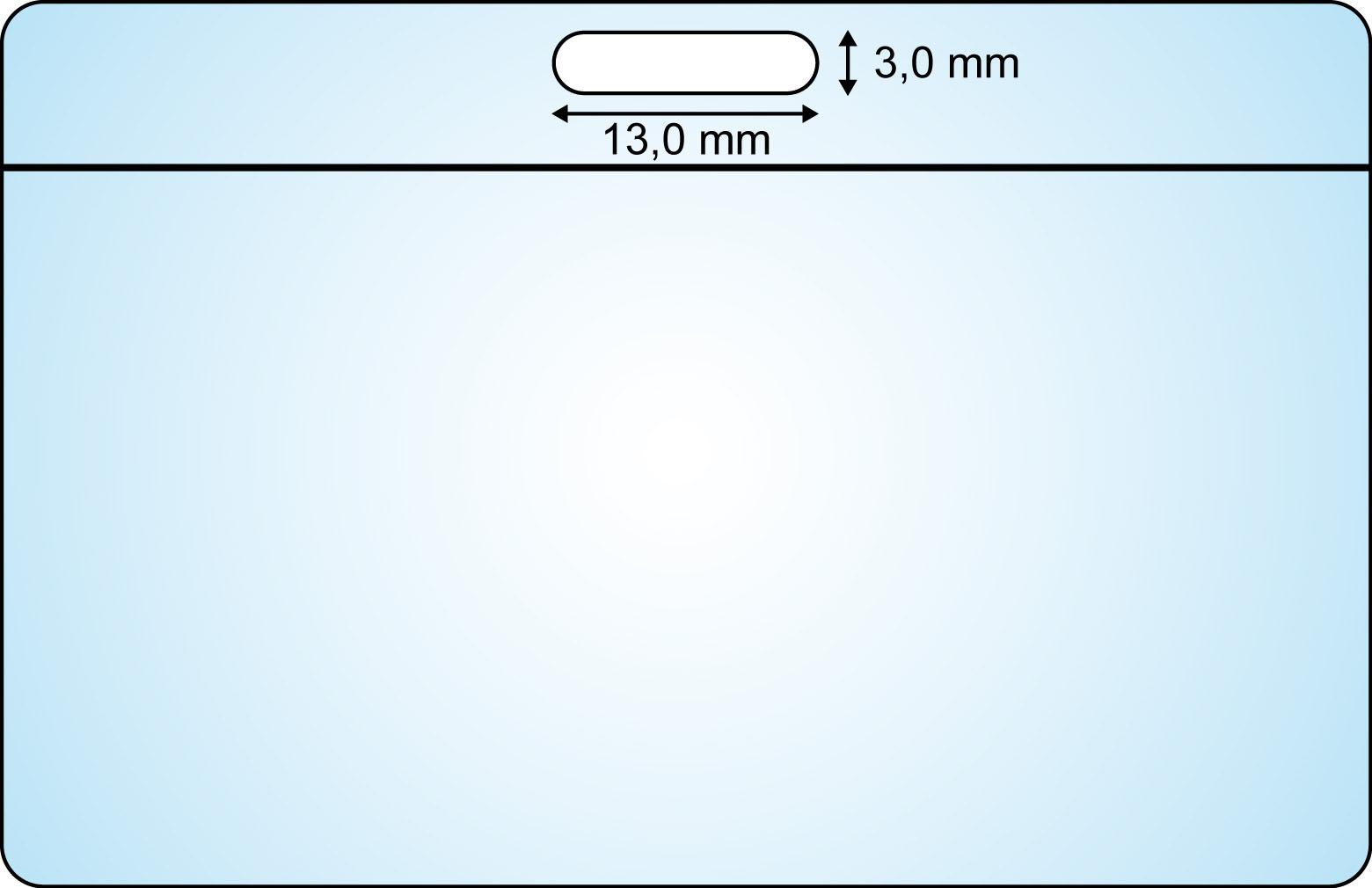 Ausweislocher 13  x 3 mm (Langloch) – Bild 2